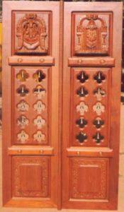 Floral Carving Temple Door & Temple Door u2013 Entrance Door