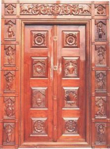 Mythological Temple Door